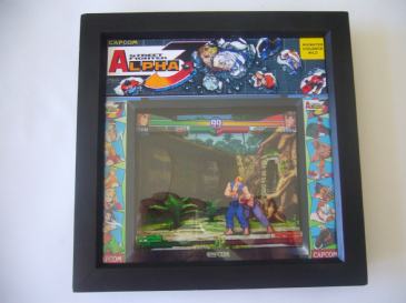 STREET FIGHTER 3 ALPHA Arcade Art  3D Shadow Box